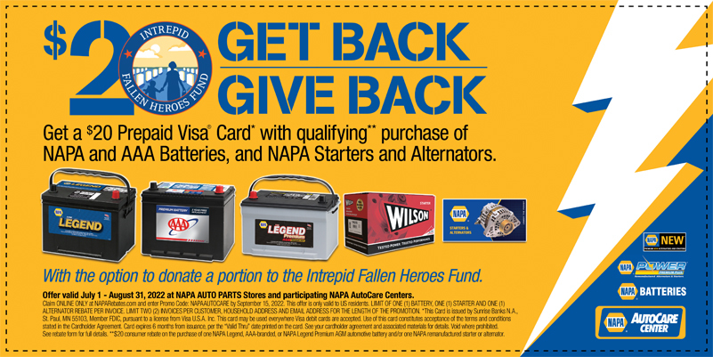 NAPA Promotion | Eastman Auto Care